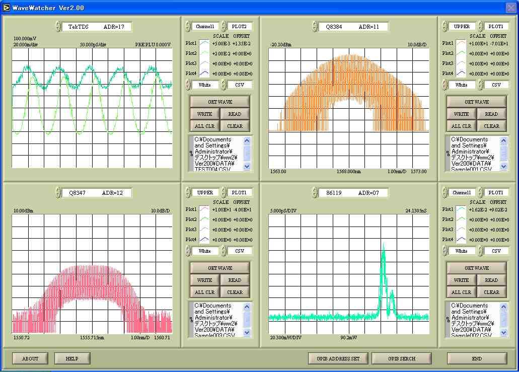 測定器波形データキャプチャソフトウェア